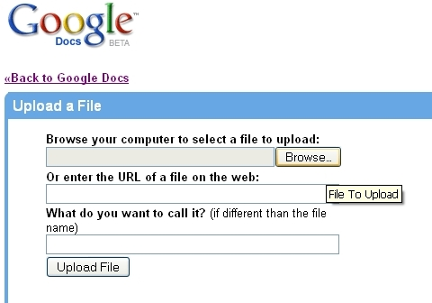upload excel file to Google doc 2