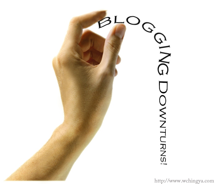 blogging downturns