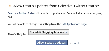 allow status updates