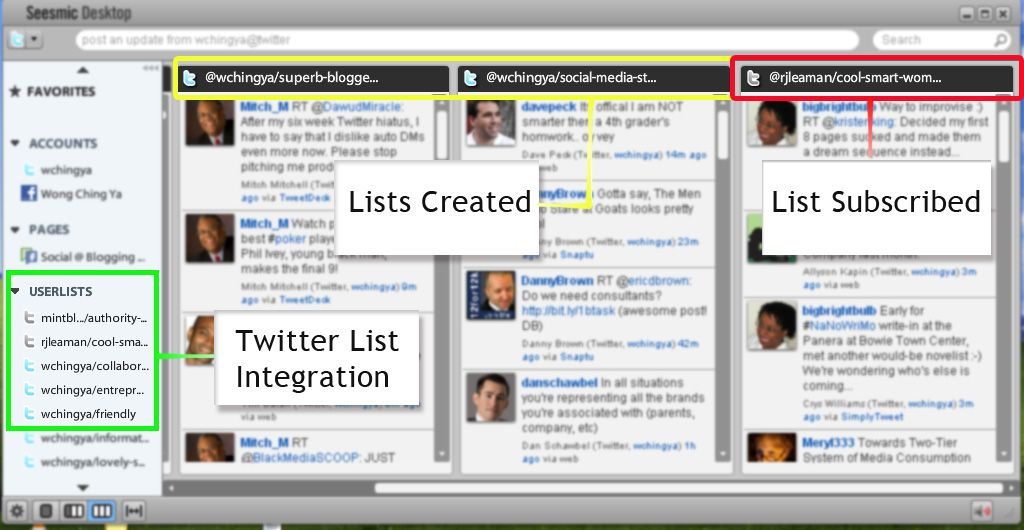 Twitter list integration 1